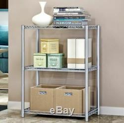 2 Tier Microwave Oven Rack Stand Shelf Stainless Steel Kitchen Storage Organiser