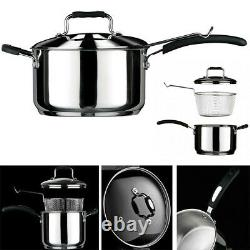 4l Tenzo S II Series Chip Pan Fryer Stainless Steel Non Slip With LID & Basket