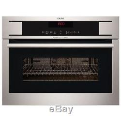 AEG KM8403101M COMPETENCE 60cm Electric Built-in Stainless Steel Microwave