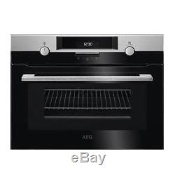 AEG KMK561000M Compact Microwave Combination Oven Stainless Steel HA1446