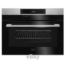 AEG KMK721000M Built in Microwave & Grill Compact Oven Stainless Steel Brand New