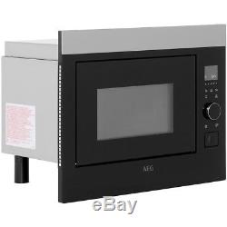 AEG MBE2658S-M Built-in Solo Microwave-Black & Stainless Steel