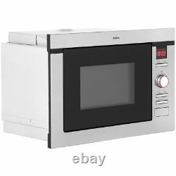 AMICA Built in Microwave Oven With Grill 900w 60cm AMM25BI 25L Stainless Steel