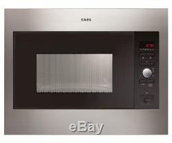 Aeg Single Stainless Steel Integrated Microwave Oven Mc2664e New