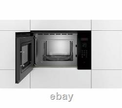 BOSCH Serie 4 BFL523MB0B Built-in Solo Microwave Black Currys