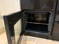 Belling Duel Fuel Range Cooker Black (with free black microwave)