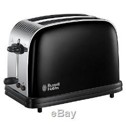 Black Russell Hobbs Stainless Steel Microwave, Colours Plus Kettle + Toaster SET