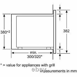 Bosch BFL523MS0B Serie 4 800 Watt Microwave Built In Stainless Steel 20 litres