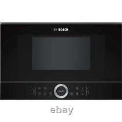 Bosch BFL634GB1B Serie 8 21L 900W Built-in Microwave Oven Black