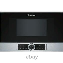 Bosch BFL634GS1B Serie 8 21L 900W Built-in Microwave Stainless Steel