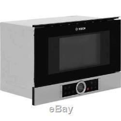Bosch BFL634GS1B Serie 8 900 Watt Microwave Built In Brushed Steel
