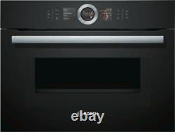 Bosch CMG656BB1B Built-in Compact Oven With Microwave Black