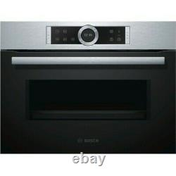 Bosch Serie 8 CFA634GS1B 900W Built-In Brushed Steel Microwave Oven 36L