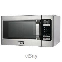 Buffalo Programmable Commercial Microwave Oven Easy to Clean 1.1kW 26L
