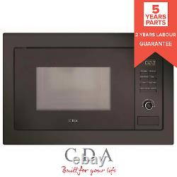 CDA VM131BL 25L Black 900W Integrated Built In Microwave Oven With Auto Defrost