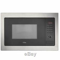 CDA VM230SS 25L Stainless Steel & Black 900W Integrated Microwave Oven And Grill