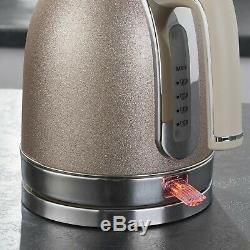 Champagne Sparkle Kettle And 4 Slice Toaster & Microwave Kitchen Set