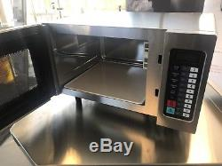 Commercial Microwave Oven 1000W Stainless Steel Kitchen Catering Program Auto