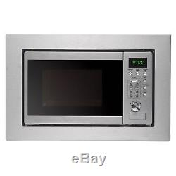 Cookology BIM20LWG Stainless Steel 20L 800W 60 x 38cm Built-in Microwave & Grill