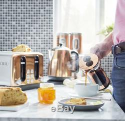 Copper Microwave Kettle 4 Slice Toaster Set Kitchen Christmas Gift Rose Gold