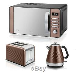 Copper Microwave Kettle abd Toaster Set Buy Sale Cheap Kitchen Swan Best