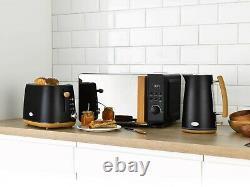 Daewoo Skandik Kitchen Set 1.7L 3KW Kettle 2 Slice Toaster & Digital Microwave
