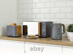 Daewoo Stockholm Kitchen Set 1.7L 3KW Kettle 2 Slice Toaster & Digital Microwave