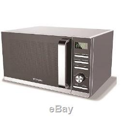 Dimplex 980538 23 Litre 900W Silver Microwave Oven Stainless Steel Interior