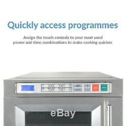 ElectriQ 1800W 30L Programmable Commercial Microwave for Commercial Ki EIQCMW30L