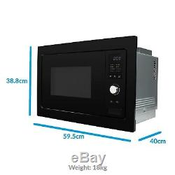 ElectriQ 25L Built in Integrated Standard Solo Microwave in Black