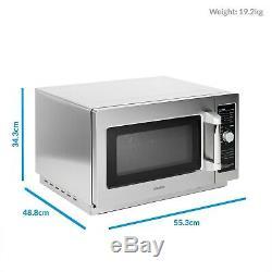 ElectriQ 34 litre 1000w Flatbed Commercial Heavy Duty Freestanding Mi eiqmwcom34