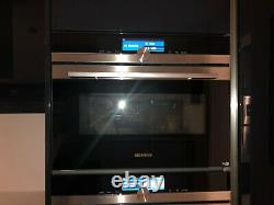 Ex-display Siemens iQ700 CM678G4S6B compact oven with microwave