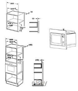 GRADED Cookology Integrated Microwave in Black Built-in IM20LBK 20 Litre