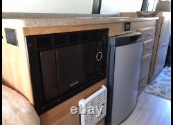 Greystone Black Built-in Microwave with Trim Kit 0.9 Cu Ft RV Motorhome