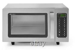 Hendi 1000W Commercial Microwave Oven Programmable Stainless Steel Catering Auto