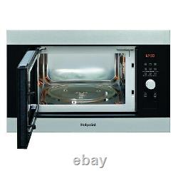 Hotpoint MF25GIXH 25L 900W Built-in Microwave & Girll Stainless Steel