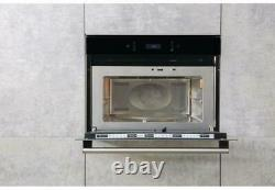 Hotpoint MP676IXH Built In Microwave Stainless Steel 40 Litre capacity Clock