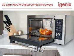 Igenix IG3095 30L 1000W Digital Combination Microwave Oven/Grill Stainless Steel