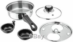 Judge 2 Cup Egg Poacher Pan Non-Stick, Stainless Steel Perfect Poached Eggs