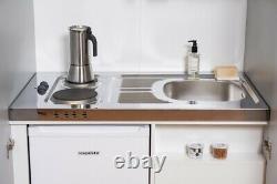 Kitchen Cupboard Kitchen Mini Kitchen Set Single Complete Unit White respekta