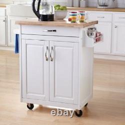 Kitchen Stand Island Cupboard Microwave Cart Cabinets Storage & Shelf Organizer