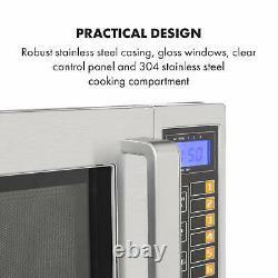 Klarstein 25 Microwave 1000W 25l Timer 3 Power Levels Stainless Steel