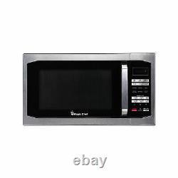 Magic Chef MCM1611ST 1100 Watt 1.6 Cubic Feet Digital Microwave, Stainless Steel