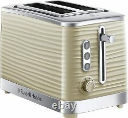 Microwave Electric Kettle and 4 Slice Toaster Russell Hobbs Set Ceap Sale CREAM