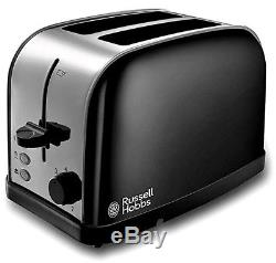 Microwave Kettle and Toaster Set Russell Hobbs Kettle & 2 Slot Toaster Black