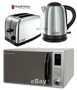 Microwave Kettle and Toaster Set Russell Hobbs Kettle & 2 Slot Toaster Silver