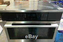 Miele H6100BM Single Electric Oven with Microwave, Clean Steel (CK1697)
