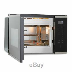Montpellier MWBI73B Integrated Built In Black Microwave Oven With Grill