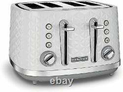 Morphy Richards 4 Slice Toaster and Kettle Set Russell Hobbs Microwave White