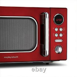 Morphy Richards 511512 Evoke 23 Litre Microwave in Red Brand new